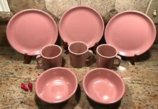 Set of 8 VTG Rubbermaid Melmac Melamine Pink Plates 3838, Bowls 3836, Mugs 3813