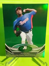 2011 Bowman Platinum Prospects Green 489/599 Miguel De Los Santos #BPP13 Rangers