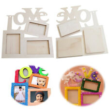 1x Love Letter Bois Photo Cadre DIY Peinture Craft Artwork Décor Salon Table NF