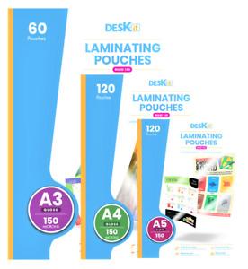 Deskit Laminating Pouches – Various Sizes – Gloss/Matt – 100/150/250 Microns