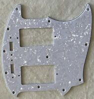 Custom Guitar Pickguard For US Mustang PAF Humbucker Pickup Style,White Pearl