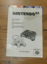 Nintendo 64 Console Instruction Booklet  1996 Manual NUS-S-HB-USA