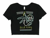Elle King Neon Sign Girl Juniors Black Crop Top T Shirt New Official Merch