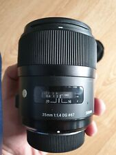Sigma 35mm f/1.4 DG HSM A1 Lens + FREE Sigma USB Dock for Calibration USED