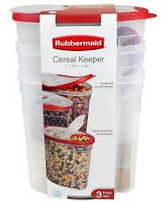 New 3 1.5 Gallon Rubbermaid Cereal Keeper Food Storage Plastic Containers Red