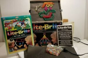 Vintage Hasbro Toy LITE-BRITE with Box Pegs Extra Sheets 1990