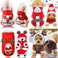 XS-L Pet Winter Warm Clothes XMAS Dog Princess Dress Apparel Christmas Outfit US