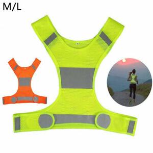 Hi Viz Reflective Running Cycling Sport Vest Top High Visibility Breathable Mesh