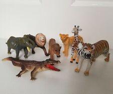 Toy Animal Figures bundle Inc AAA tiger giraffe lions elephant cheetah crocodile