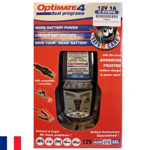 Optimate 4 Chargeur de batterie 12 V TecMate Dual Program - Tec Mate - moto auto