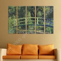 Water Lily Pond by Claude Monet | Ready to hang canvas | 5 Panels Wall art