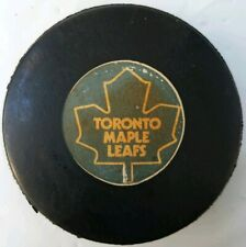 TORONTO MAPLE LEAFS VINTAGE VICEROY MADE IN CANADA NHL OFFICIAL GAME PUCK