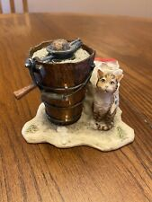 "Rare Lowell Davis ""Sunday Afternoon Treat"" Cat Ice Cream Maker Churn Figurine"