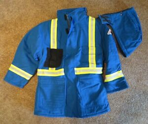 Nomex IIIA XL Insulated Parka Jacket Royal Blue Flame Resistant