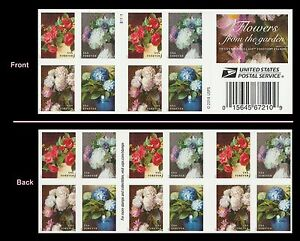 US 5237-5240 5240b Garden Flowers forever booklet B1111 (20 stamps) MNH 2017