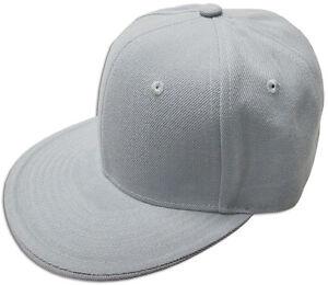 Plain Fitted Size Cap New Acrylic Multi-Brand Baseball Hat S-2XL Flat Bill Visor