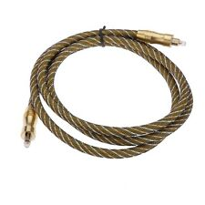 Braided OD7.0mm Premium HiFi Optical Fibre Digital Audio TOSLINK Cable 1.5m 5ft