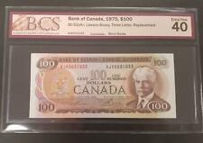 Bank of Canada 1975 $100 Replacement Lawson Bouey BC-52aA-i BCS EF 40