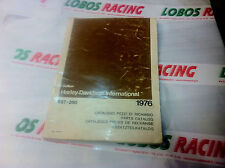 CATALOGO RICAMBI ORIGINALE HARLEY DAVIDSON SST 250 1976 SPARE PARTS CATALOGUE