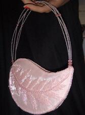 Pochette rose pâle en organza et perles Sac mariage bapteme cocktail soirée fete