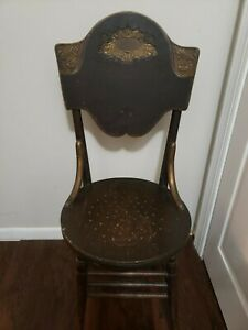Antique Vintage Wood  Chair Round