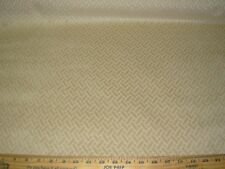 "~9 YDS~REGAL~CUT VELVET""BASKETWEAVE"" ZIG ZAG BEIGE~UPHOLSTERY FABRIC FOR LESS~"