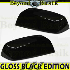 2014 2015 2016 2017 Silverado 1500 GLOSS BLACK Mirror Covers TOP HALF, NON TOW