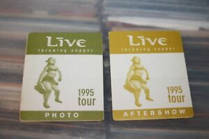LIVE  - 2x Unused Backstage Pass    - FREE SHIPPING - Lot # 07 Ed Kowalczyk