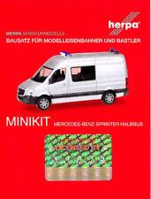 HERPA MiniKit 1:87 PKW Mercedes-Benz Sprinter Halbbus silber Bausatz #012959 NEU