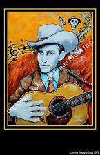 Hank Williams Hillbilly Guitar Ltd Ed Signed Print
