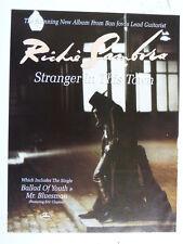 "9 x 12"" retro magazine advert 1991 RICHIE SAMBORA stranger in this town"