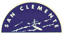 Surf San Clemente, Calif.   Vintage-Style Travel  Decal
