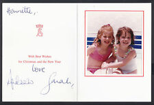 Prince Andrew Duke & Duchess of York Signed Christmas Card to Lady-in-Waiting