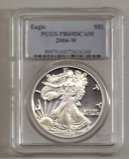 2004-W AMERICAN EAGLE SILVER DOLLAR PROOF COIN GRADED BY PCGS PR69 DEEP CAMEO