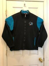 SAN JOSE SHARKS REEBOK full-zip fleece jacket men sz M Sharks Ice