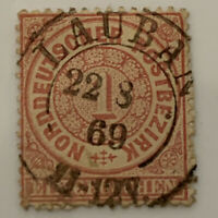 1869 NORTH GERMAN CONFEDERATION STAMP #NDP 16 WITH LAUBAN (LUBAN) SON CANCEL