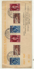 Belgium  overprited stamps on airmail cover   1947        MS0203