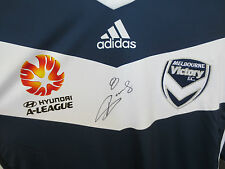 Melb Victory - Besart Berisha signed  jersey 2014/2015 -  photo proof & COA