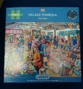 Village Tombola 500XL Large Pieces Jigsaw Puzzle Gibsons New & Sealed