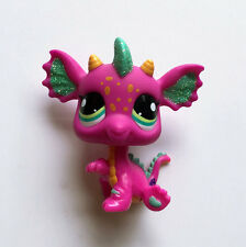 Littles Pet Shop LPS PINK DRAGON #2663 Animal Child Girl Loose Auction Figures