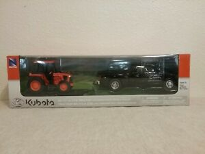 Kubota Dodge 3500 Pickup Truck with Trailer M5-111 Tractor Set 1/32 scale New