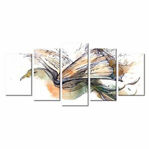 5pcs Home Wall Decor Art Abstract Dove Oil Painting Canvas Print Art No Frame