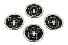 Autobot Emblem Badges Sticker Set of 4 Rims Stickers Wheel Cover Hub Caps 60mm
