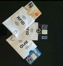 10x RFID ANTI THEFT Secure manica titolare carta di credito Protector caso di blocco