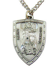 Westman Works Saint Michael Shield Pewter Medal Deluxe Set Gift Boxed with Holy