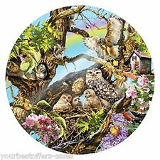 Sunsout Puzzle 1000 Piece Jigsaw Puzzles Round Puzzle Owls Animal Jigsaw Puzzles