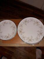 NORITAKE China ARLENE 5802 Pattern Set of 7 Dinner Plates And 7 Salad Plates