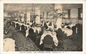 Dining Room Towers Hotel Interior Brooklyn NY Advertising Vintage P186