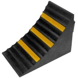 Cordolo ferma ruota cunei cuneo in gomma dura per veicoli professionale