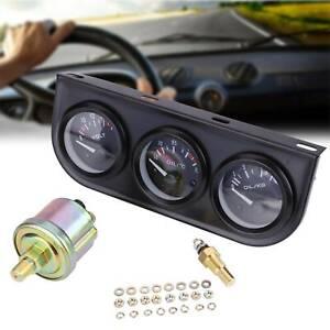 Ø52mm 3er Zusatzinstrument LED Öldruck Voltmeter Thermograph Multifunktion